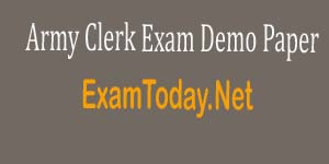 model test paper Army Clerk